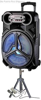 Haut-parleur Rechargeable Président De Parti Avec Stand & Microphone 6000 Watts Bluetooth