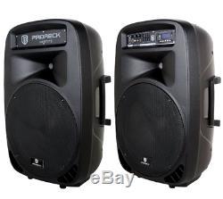 Haut-parleurs De Sonorisation De Musique De Sonorisation De Dj De Sonorisation Stéréo Audio Bluetooth MIC Led Lumières