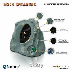 Haut-parleurs Extérieurs Bluetooth 2 Parties Sans Fil Imperméables Sans Fil De 33 Po Pour Le Jardin