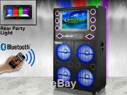 Haut-parleurs Pro Techniques Serties Bluetooth Lumières De Fête Et 19 Pouces Displa