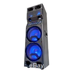Ibiza Son Ts450 2 X 10 Led Système Audio 450w Éclairage Enceintes De Sono Dj Party