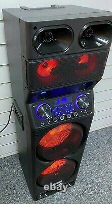 Ibiza Sound Ts450 2 X10 Sound System 450w Led Speaker Pa Dj Party Bluetooth