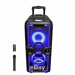 Idance Megabox 2000 400w Système De Sonorisation Et De Lumière Bluetooth Portable