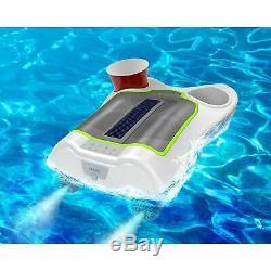 Ion Audio Party Motorisé Haut-parleur Bluetooth Bateau Avec Panneau Solaire Et Porte-gobelets
