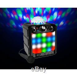 Ion Audio Party Rocker Effets Haut-parleur Bluetooth Avec Light Show Et Microphone