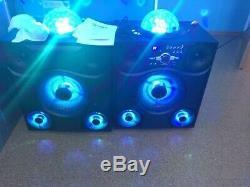 Ion Mega Party Express Président Light Show 600w Bluetooth Led Système Radio Fm Pa