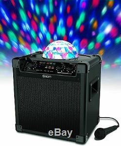 Ion Portable Party Rocker Plus Wireless Speaker Système Et Machine Karaoké