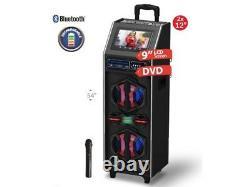 Iq Sound Iq-9212djbt 2 X 12 Party Pa Speaker +9 Lcd/dvd/karaoke +usb/sd/fm/led