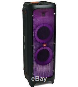 Jbl Partybox 1000 Portable Party Bluetooth Président Lightshowithdj & Karaoké-noire