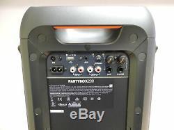 Jbl Partybox 200 Party Haut-parleur Bluetooth Avec Des Effets De Lumière