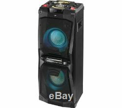 Jvc Mx-d528b Bluetooth Megasound Salut-fi Party Speaker System De La Usb Radio Fm