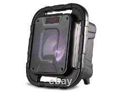Jvc Portable Bluetooth Party Speaker 8 Subwoofer Led Light Fm Radio Splashproof