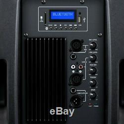 Kam 1000w 12 Powered Actif Haut-parleur Bluetooth Dj House Party Président Usb Sd