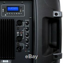 Kam 1200w 15 Powered Bluetooth Usb Haut-parleur Actif Sd Dj House Party Président