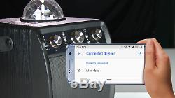 Karaoke Bluetooth, Haut-parleur Portable Et Light Party Avec Micro Sans Fil