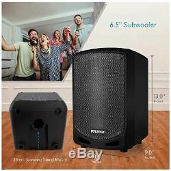 Karaoké Rechargeable Sans Fil À Grande Partie Système Bluetooth Haut-parleur Portable