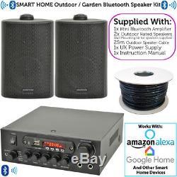 Kit De Haut-parleur Bluetooth Extérieur 2x Bbq De Jardin Karaoké / Stéréo Avec Amp