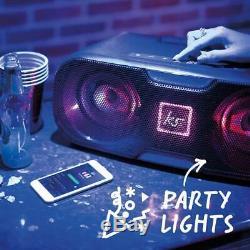 Kitsound Slam XL Party Bluetooth Disco Light Président Noir