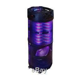 Le Haut-parleur Portatif De Partie Du Bluetooth 12 De Subwoofer De Son De 360 degrés A Mené Des Lumières MIC