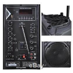 Les 12 Derniers Powered Dj Party Pa Avec Haut-parleur Bluetooth Usb Télécommande Portable
