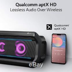Lg Pk7 Xboom Go Résistant À L'eau Party Bluetooth Sans Fil Haut-parleur 22 Heures Noir
