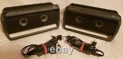 Lg Pk7 Xboom Paire Noire De (2) Haut-parleurs Bluetooth Sans Fil Résistant À L'eau