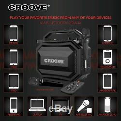 Machine De Karaoke Portable Party Box Bluetooth / Aux / Usb / Sd Card Connectivité 2 Mics