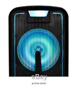 Magicbass Mg-2012 Système D'enceintes De Soirée Karaoké Rechargeable Avec Bluetooth 6000w