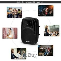 Mariage De Fête De Haut-parleurs À Double Microphone Bluetooth Alimenté 12 X 10,5 X 16,5 Us