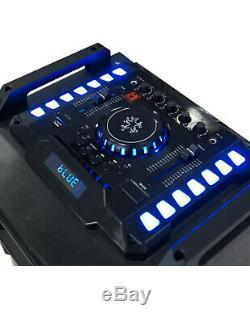 Mdj Atlantic Double 12 Sono Amplifiées Dj Bluetooth Haut-parleurs Karaoke Party Actifs