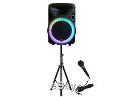 Mdj Omaha 15 2500w Powered Dj Haut-parleurs Actifs Karaoke Party Pa MIC Supports