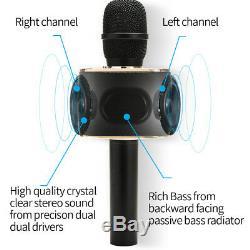 Microphone Sans Fil Bluetooth Karaoke Player 12w Double Président Ktv Mariage