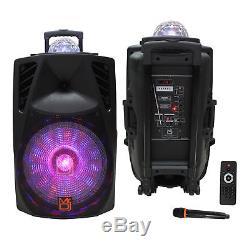 Monsieur Dj 15 3000w Haut-parleur Portable Bluetooth Fm Sd Usb À 2 Voies Avec Accent
