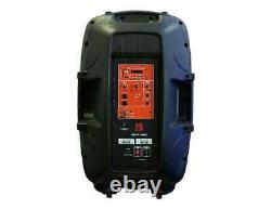 Mr Dj Partypack Portable 15'' Bluetooth Mp3 Karaoke Party Pa Dj Audio Speaker