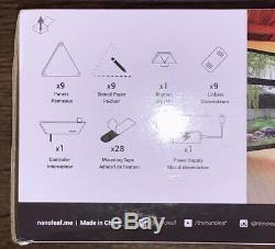 Nanoleaf Panneaux Lumineux Rhythm Édition Smarter Kit9 Panneaux