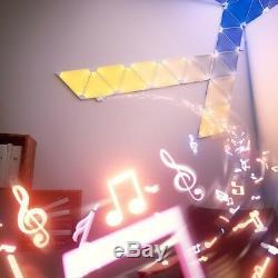 Nanoleaf Rhythm Led Smart Kit D'ampoule Avec 9 Panneaux Modulaires Et Légers Triangle, Blanc