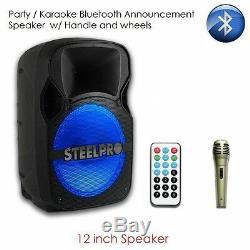 Nouveau Big Karaoke Bluetooth Party Party Dj Speaker Avec Roues Pour Iphone 6 6s 7 7s 8 Plus