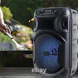 Nouveau Haut-parleur Bluetooth À Led Portable Pro Technique 1000 W Avecusb, Vendu As 4