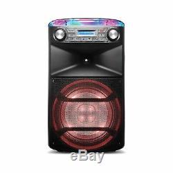 Nouveau Ion Block Party Système De Pa Karaoke Ultra Bluetooth Avec MIC Et Effets Lumineux