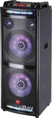 Nutek Ps-92129 Haut-parleur Dj Party Bluetooth Avec Lumières 2x12 (double 12 Pouces) Bt