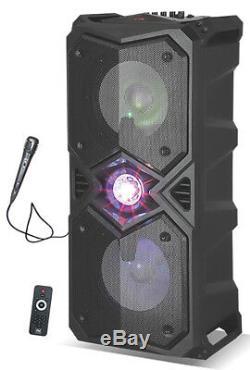 Nutek Ts-4528 - Système De Haut-parleurs De Fête Karaoké Rechargeable Avec Bluetooth 3000w