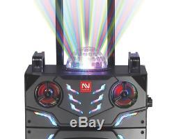 Nutek Ts-90218bl Système De Haut-parleurs De Fête Karaoké Rechargeable Avec Bluetooth 4000w