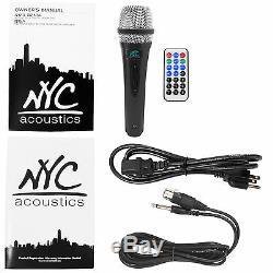Nyc Acoustics N12a 12 Haut-parleur Alimenté 400w Bluetooth, Lumières De Fête + Microphone