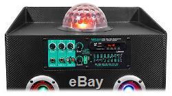Nyc Acoustics N15br 15 Enceinte Rechargeable Bluetooth 600w Avec Microphone