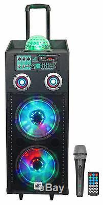 Nyc Acoustics N210ar Dual 10 Enceinte Bluetooth Rechargeable Alimentée Par 600w