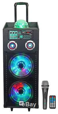 Nyc Acoustics N210ar Dual 10 Enceinte Bluetooth Rechargeable Et 600w