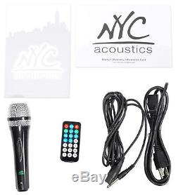 Nyc Acoustics N212b Dual 12 - Haut-parleur Bluetooth Avec Alimentation De 700w, Bluetooth