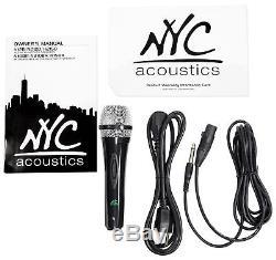 Nyc Acoustics N215b Dual 15 Enceinte De Soirée Dj Alimentée Par 800w Bluetooth, Lumières + Micro