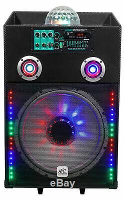 Nyc Acoustique N15br 15 600w Party Bluetooth Rechargeable Avec MIC Powered Président