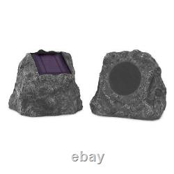 Paire De Haut-parleurs Solaires De Charge Bluetooth Outdoor Rock